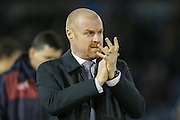 Burnley Manager Sean Dyche  during the Sky Bet Championship match between Burnley and Nottingham Forest at Turf Moor, Burnley, England on 23 February 2016. Photo by Simon Davies.