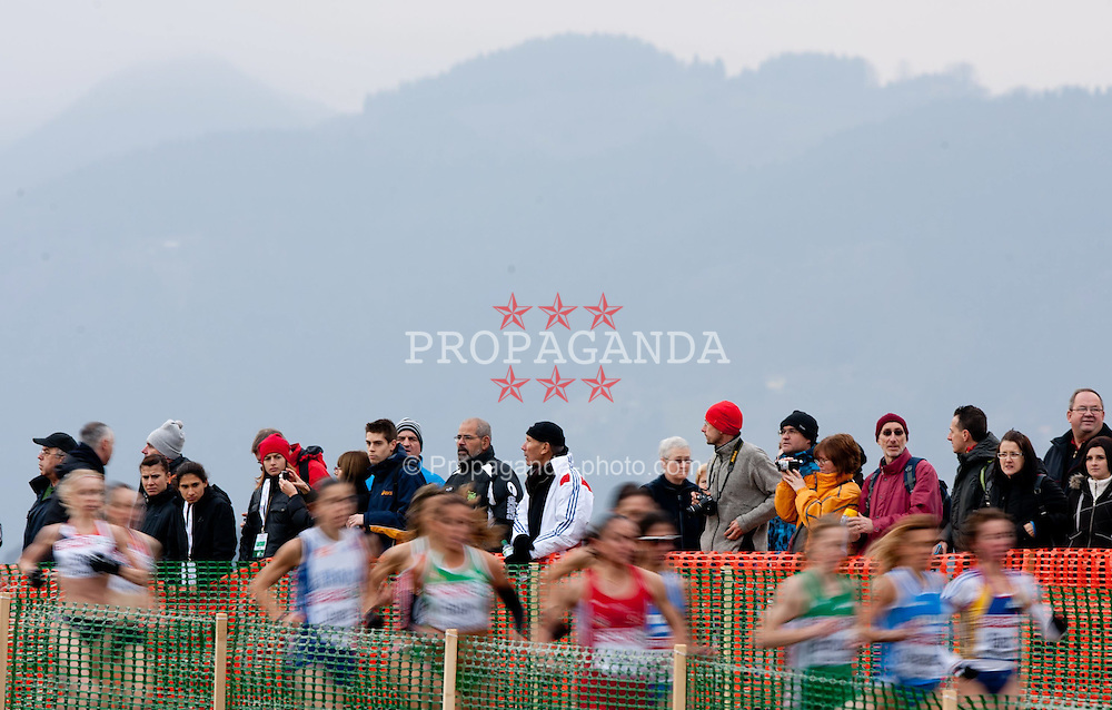 11.12.2011, Stadium Ob jezeru, Velenje, SLO, Crosslauf Europameisterschaft 2011, im Bild Spectators // during the Senior Women's race during the 18th SPAR European Cross Country Championships Velenje 2011, on December 11, 2011 in Stadium Ob jezeru, Velenje, Slovenia. EXPA Pictures © 2011, PhotoCredit: EXPA/ Sportida/ Vid Ponikvar..***** ATTENTION - OUT OF SLO *****