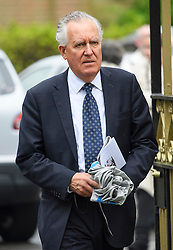 © London News Pictures. 11/05/2016. London, UK. LORD PETR HAIN attends the funeral of Maurice Peston, Baron Peston at Golders Green, north London. Baron Peston, who died  in April aged 85,  was the father of journalist and ITV News Political Editor, Robert Peston. Photo credit: Ben Cawthra/LNP