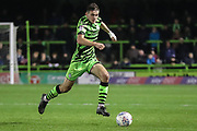 Forest Green Rovers Liam Kitching(20) during the EFL Sky Bet League 2 match between Forest Green Rovers and Plymouth Argyle at the New Lawn, Forest Green, United Kingdom on 16 November 2019.