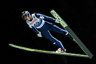 Gregor Schlierenzauer of Austria competes during FIS World Cup Ski Jumping competition in Wisla, Poland on January 16, 2014.<br /> <br /> Poland, Wisla, January 16, 2014.<br /> <br /> Picture also available in RAW (NEF) or TIFF format on special request.<br /> <br /> For editorial use only. Any commercial or promotional use requires permission.<br /> <br /> Mandatory credit:<br /> Photo by © Adam Nurkiewicz / Mediasport
