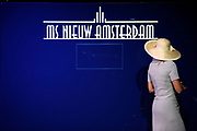 ms Nieuw Amsterdam Inaugural in Venice.<br /> <br /> Her Royal Highness Princess Máxima inaugurated on Sunday, July 4, 2010 in Venice, The cruise ship ms Nieuw Amsterdam of Holland America Line. The ship is the second in the Signature Class. The New Amsterdam, which can accommodate 2106 passengers, is built by Italiani shipbuilder Fincantieri Cantieri Navali , SpA in Marghera, Italy.<br /> <br /> On the photo:<br /> <br />  Maxima Signs a panel at the ship