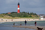 Sylt, Germany. Hörnum Odde, Southern tip of the island. The lighthouse.
