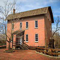 Photo of Wood's Grist Mill in Deep River County Park in Hobart Indiana. The grist mill was built in the early 1800's by John Wood.