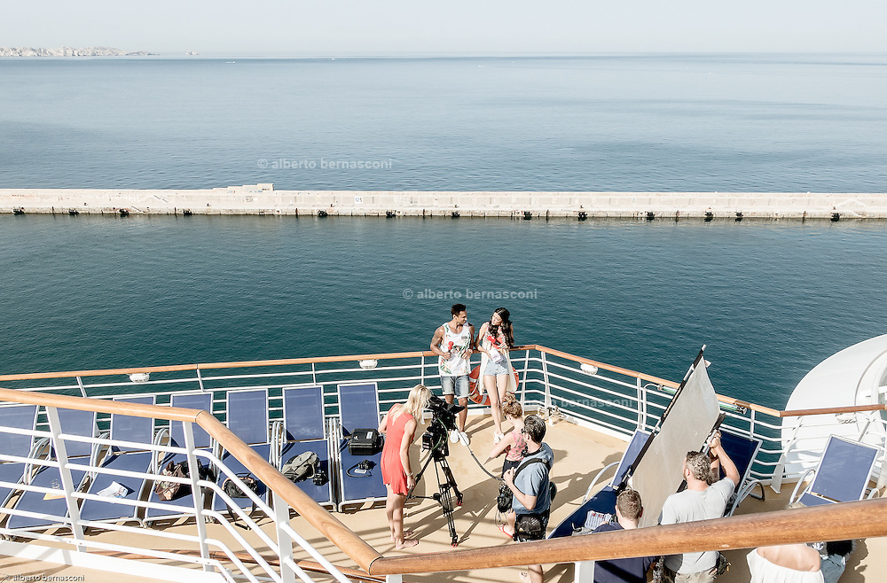 Royal Caribbean, Harmony of the Seas, shooting for german television