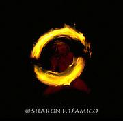 A Highly Skilled Hawaiian Fireknife Dancer Demonstrates Ceremonial Fire Spinning.