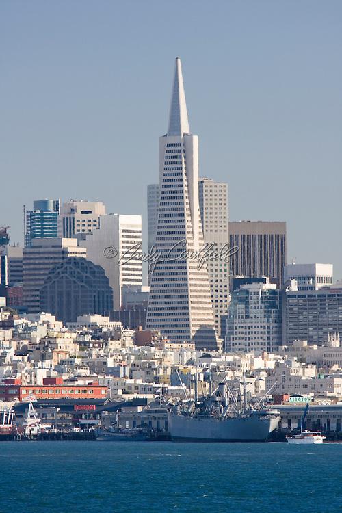City skyline with Transamerica Building-San Francisco Bay, CA
