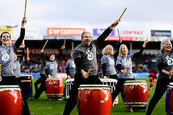 Taiko Drummers prior to kick off - Mandatory by-line: Ryan Hiscott/JMP - 29/12/2019 - RUGBY - Sandy Park - Exeter, England - Exeter Chiefs v Saracens - Gallagher Premiership Rugby
