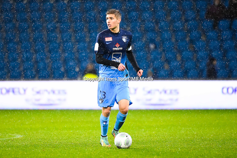 Maxime LE MARCHAND  - 12.12.2014 - Le Havre / Laval - 17eme journee de Ligue 2 <br /> Photo : Fred Porcu / Icon Sport