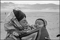 Inde. Province du Jammu Cachemire.  Ladakh. Plateau du Changtang. Nomades Chang-Pa. // India. Jamu and Kashmir province. Ladakh. Changtang. Chang-pa nomad.