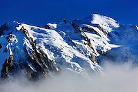 Mountain impression Aguille du Midi, Mont Blanc - Europe, France, Haute Savoie, Aiguilles Rouges, Chamonix, Lac Blanc - Afternoon - September 2008