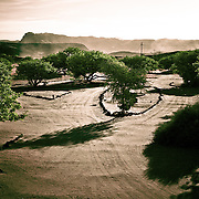 This campground is in Damaraland, Namibia and is pretty dry and sandy.