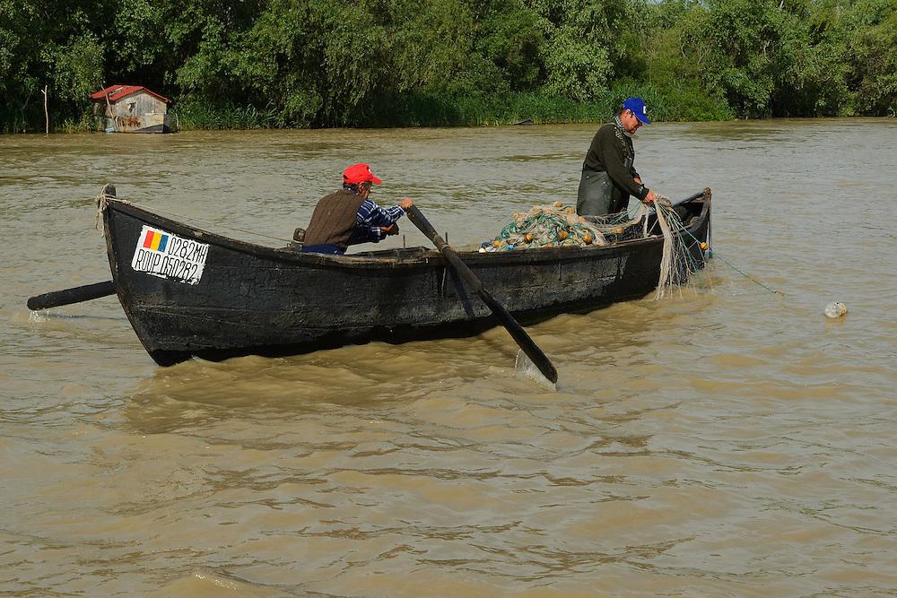 Fishermen, Sfinthu Gheorghe, Danube delta rewilding area, Romania