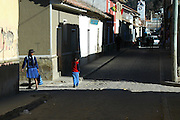 Mother and daughter on the streets of Tarabuco, Chuquisaca, Bolivia