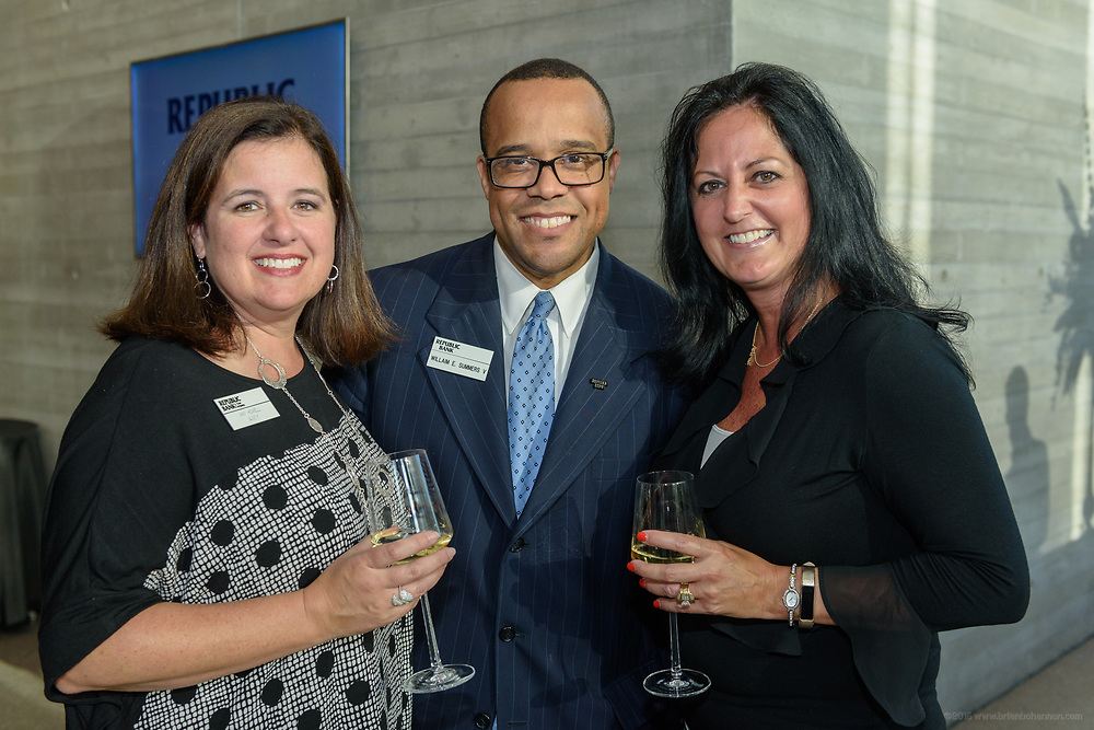 Amy Howell, William E. Summers V, Michelle Forish at the 10-year anniversary celebration of Republic Bank's Private Banking and Business Banking divisions Wednesday, May 17, 2017, at the Speed Art Museum in Louisville, Ky. (Photo by Brian Bohannon)