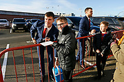 Middlesbrough midfielder Paddy McNair (17)  signing autographs  during the EFL Sky Bet Championship match between Middlesbrough and Ipswich Town at the Riverside Stadium, Middlesbrough, England on 29 December 2018.
