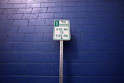 USA ALASKA KODIAK 27JUN12 - No parking sign in Kodiak, Alaska.....Photo by Jiri Rezac / Greenpeace