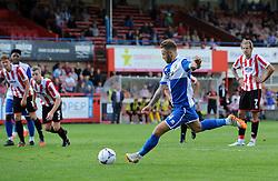 Matty Taylor of Bristol Rovers misses a penalty - Mandatory by-line: Neil Brookman/JMP - 25/07/2015 - SPORT - FOOTBALL - Cheltenham Town,England - Whaddon Road - Cheltenham Town v Bristol Rovers - Pre-Season Friendly