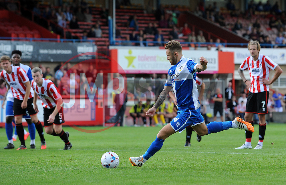 Matty Taylor of Bristol Rovers misses a penalty - Mandatory by-line: Neil Brookman/JMP - 25/07/2015 - SPORT - FOOTBALL - Cheltenham Town,England - Whaddon Road - Cheltenham Town v Bristol Rovers - Pre-Season Friendly