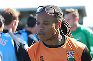 Picture by David Horn/Focus Images Ltd +44 7545 970036.20/04/2013.Edgar Davids , player/manager of Barnet before the npower League 2 match at Underhill Stadium, London.