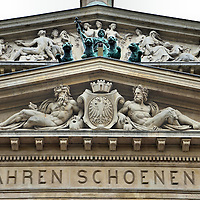 Alte Oper Pediment Frieze in Frankfurt, Germany<br />