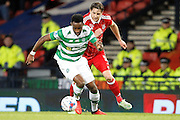 Celtic's Moussa Dembele (10) beats Aberdeen's  Ash Taylor (5) during the Betfred Scottish Cup  Final match between Aberdeen and Celtic at Hampden Park, Glasgow, United Kingdom on 27 November 2016. Photo by Craig Galloway.