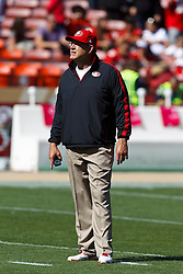 SAN FRANCISCO, CA - OCTOBER 14: Special teams coordinator Brad Seely of the San Francisco 49ers on the field before the game against the New York Giants at Candlestick Park on October 14, 2012 in San Francisco, California. The New York Giants defeated the San Francisco 49ers 26-3. Photo by Jason O. Watson/Getty Images) *** Local Caption *** Brad Seely