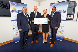 The Honest Truth Charity receives their cheque - Ryan Hiscott/JMP - 06/08/2018 - RUGBY - Sandy Park - Exeter, England - Exeter Chiefs Season Launch Dinner