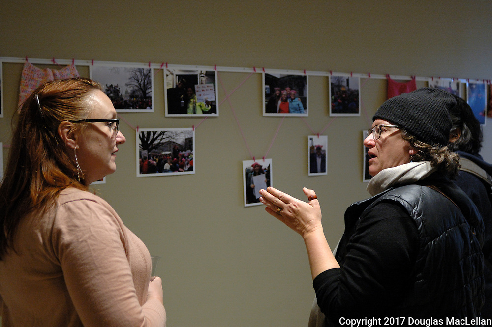 """CANADA, Windsor. May, 2017. """"Beyond Traditional: Women's Work"""", opening reception, Art Gallerry of Windsor. Part of the MayWorks Windsor 2017 programming."""
