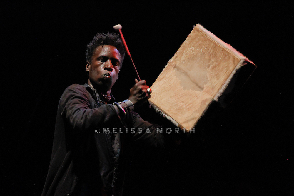 Saul Williams performs live on stage at Standon Calling, Herts, UK on 13 August 2011.
