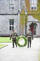 12/07/2015   repro free The National Day of Commmeoration Ceremony was held in NUI, Galway in honour of all those who irish mean nd women who died in past wars or on service with the UN . <br /> Photo:Andrew Downes:XPOSURE