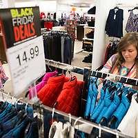 Lauren Wood | Buy at photos.djournal.com<br /> Abby Epting of Baldwyn looks through the racks for Black Friday deals at JCPenney department store Friday morning at the Mall at Barnes Crossing.