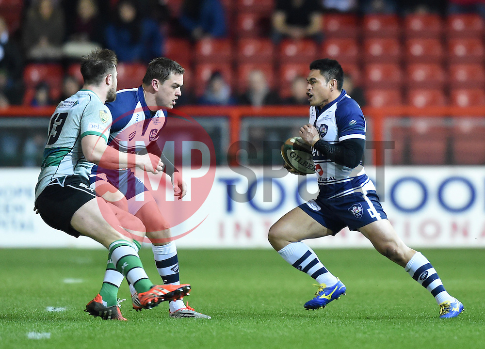 Bristol Rugby winger David Lemi in action during the Greene King IPA Championship match between Bristol Rugby and Nottingham at Ashton Gate on March 6, 2015 in Bristol, England - Photo mandatory by-line: Paul Knight/JMP - Mobile: 07966 386802 - 06/03/2015 - SPORT - Rugby - Bristol - Ashton Gate Stadium - Bristol Rugby v Nottingham - Greene King IPA Championship