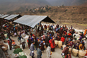 Market in Wangdi Phodrang From coverage of revisit to Material World Project family in Bhutan, 2001.