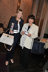 Left to right, The COUNTESS OF WOOLTON and EVIE BRICUSSE at a tea party to held at The Langham Hotel, Portland Place, London with tea inspired by Theo Fennell held on 25th April 2013.