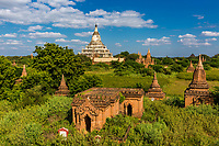 skyline landscape of the historic capital city of Bagan Myanmar (Burma)