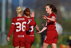 LIVERPOOL, ENGLAND - Sunday, February 4, 2018: Liverpool's Caroline Weir celebrates scoring the second goal during the Women's FA Cup 4th Round match between Liverpool FC Ladies and Watford FC Ladies at Walton Hall Park. (Pic by David Rawcliffe/Propaganda)
