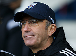 West Brom Manager Tony Pulis looks on before kick off - Photo mandatory by-line: Rogan Thomson/JMP - 07966 386802 - 31/01/2015 - SPORT - FOOTBALL - West Bromwich, England - The Hawthorns - West Bromwich Albion v Tottenham Hotspur - Barclays Premier League.