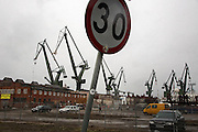 Iconic Gdansk cranes<br /> <br /> Gdansk and Remontowa Shipyards