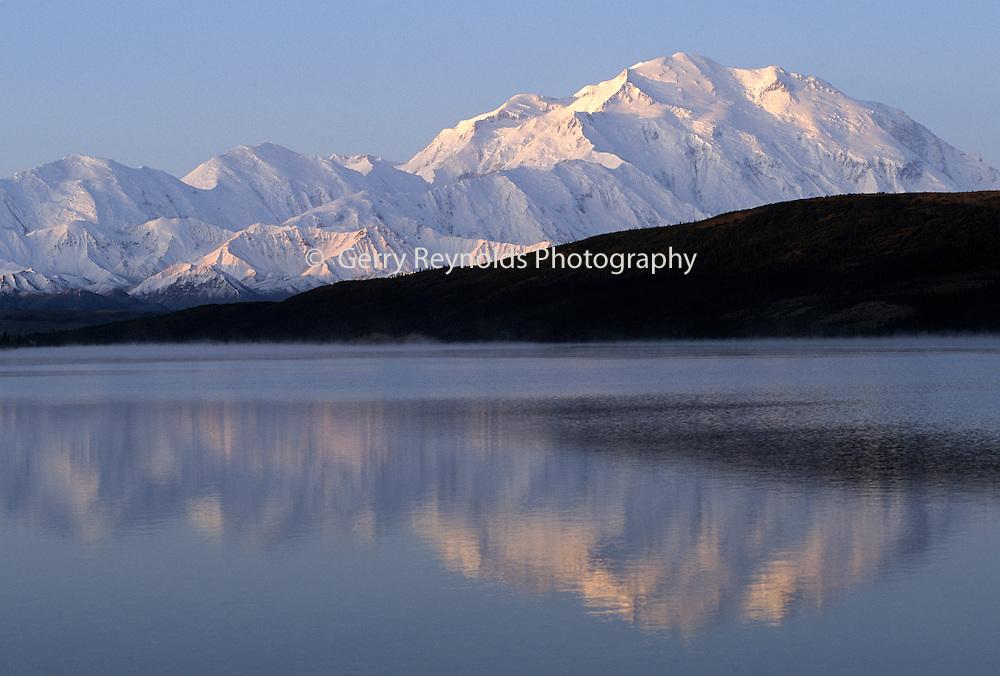 Mount McKinley, Wonder Lake, Sunrise, Reflection, Denali National Park, Alaska