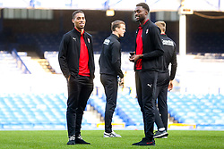 Zak Vyner of Rotherham United checks out the Goodison Park Pitch with Semi Ajayi ahead of his sides Carabao Cup match against Everton - Mandatory by-line: Robbie Stephenson/JMP - 29/08/2018 - FOOTBALL - Goodison Park - Liverpool, England - Everton v Rotherham United - Carabao Cup