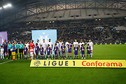 OM team before the French Championship Ligue 1 football match between Olympique de Marseille and Toulouse FC on September 24, 2017 at Orange Velodrome stadium in Marseille, France - Photo Philippe Laurenson / ProSportsImages / DPPI