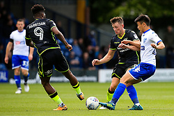 Ollie Clarke of Bristol Rovers tackles Tsun Dai of Bury - Mandatory by-line: Matt McNulty/JMP - 19/08/2017 - FOOTBALL - Gigg Lane - Bury, England - Bury v Bristol Rovers - Sky Bet League One