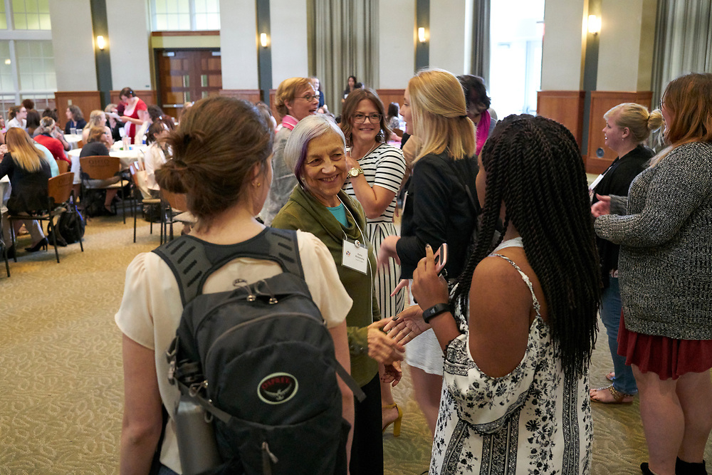 Mentees and mentors meet for the first time. Womens, mentoring, program, meet, and, greet, event, walter, rotunda