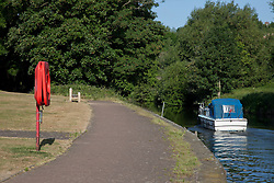 © London News Pictures. 31/05/11. The River Medway at Stampers Park in Tovil, Maidstone where an 11-year old boy died after falling in yesterday (30/05/2011). Police said a courageous passer-by jumped into the swirling water to try to save the youngster but could not find him. Picture credit should read Manu Palomeque/London News Pictures.