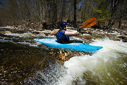 Kayaking the Ashuelot River in Surry New Hampshire USA
