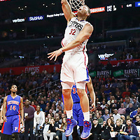 07 November 2016: Los Angeles Clippers forward Blake Griffin (32) dunks the ball during the LA Clippers 114-82 victory over the Detroit Pistons, at the Staples Center, Los Angeles, California, USA.
