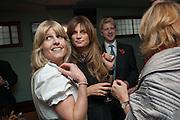 RACHEL JOHNSON; JEMIMA KHAN; JOE JOHNSON; , Party to celebrate the publication of 'Winter Games' by Rachel Johnson. the Draft House, Tower Bridge. London. 1 November 2012.