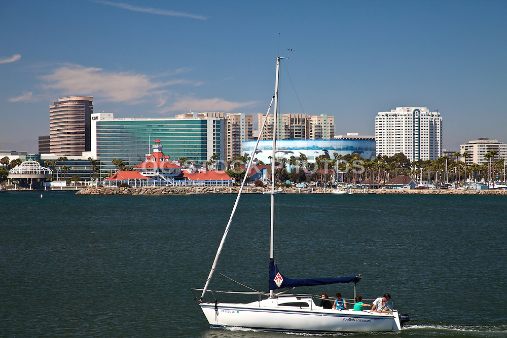 Sailing In Rainbow Harbor And Marina Long Beach
