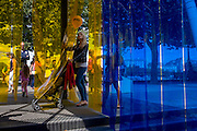Arcadia, the artwork consisting of strips of synthetic, industrial curtain on London's Southbank.
